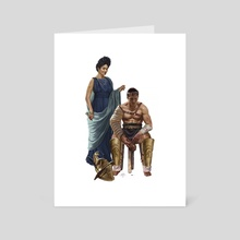 Roman Matron and Gladiator - Art Card by Sandra Delgado