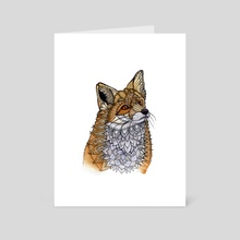 Fox Portrait - Art Card by Zanna Field