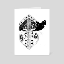 guarded inktober 2018 - Art Card by Sandra Gunniga Thomson