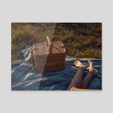 Sunset Picnic - Acrylic by Aris Simmons