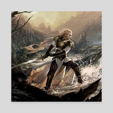 Glorfindel - Canvas by Magali Villeneuve