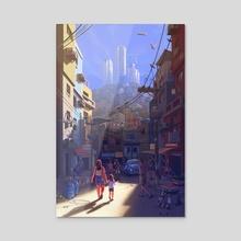The Back Streets - Acrylic by Daniel Castro Maia
