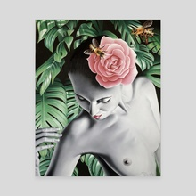 Pink Rose - Canvas by TROY BUNCH