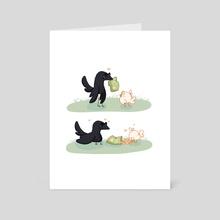 Borb Omens Chips - Art Card by Eugene Oakwood
