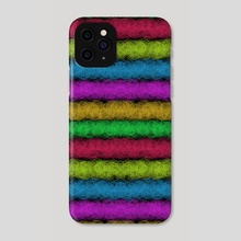 Colorful Fleece (H) - Phone Case by Vidka Art