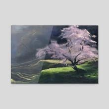 Cherry Tree - Acrylic by Anastasiya Zaytseva