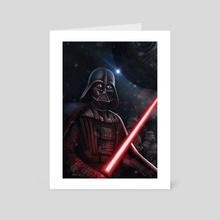 Darth Vader and the black death - Art Card by Giordano Aita