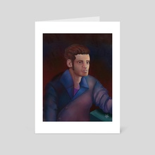 Male Study Portrait - Art Card by Romansackboy