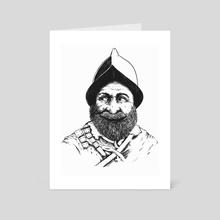 Cervantes the Conquistador INK Edition - Art Card by Kacper  Gilka