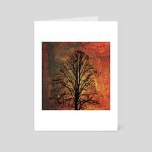 Stillness in the Chaos - Art Card by Paul Raven