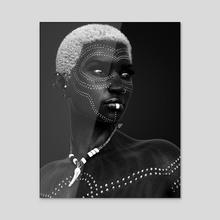 Onyx - Pearl - Acrylic by Rhayven Jones