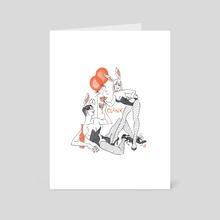 Bunnies - Art Card by Mydearbasil