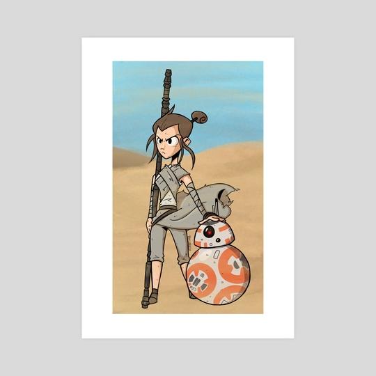 Rey & BB-8 by Ben Martin