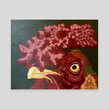 Cranky Alarm - Canvas by Ashley Hills