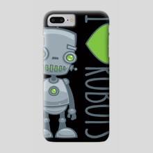 I Love Robots - Phone Case by John Schwegel