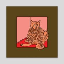 Catto - Canvas by Melinda Magyar