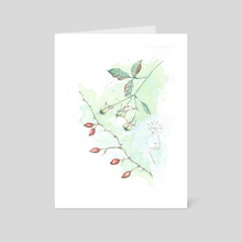 rose hip - Art Card by Csilla