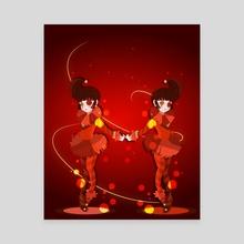 Jesters - Canvas by Karina Lopez