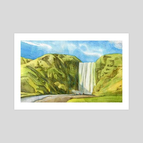 Seljalandsfoss Waterfall, Iceland by Bew Wanchai