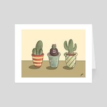Cactus Hedgehog - Art Card by Lindsay Haynes