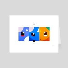 PKMNML #147-149 Dratini - Dragonite - Art Card by Matt Vee