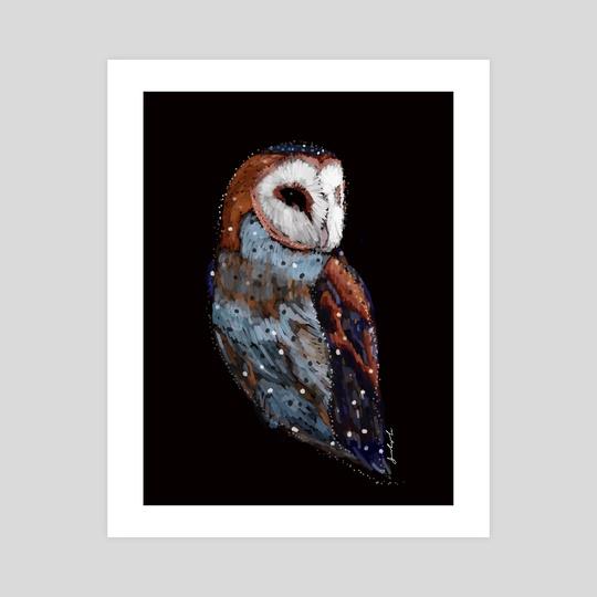 Barn owl by Yuliya Pieletskaya