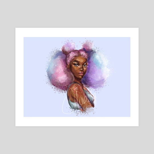 DTIYS colourful hair girl by Uheada  Agabi