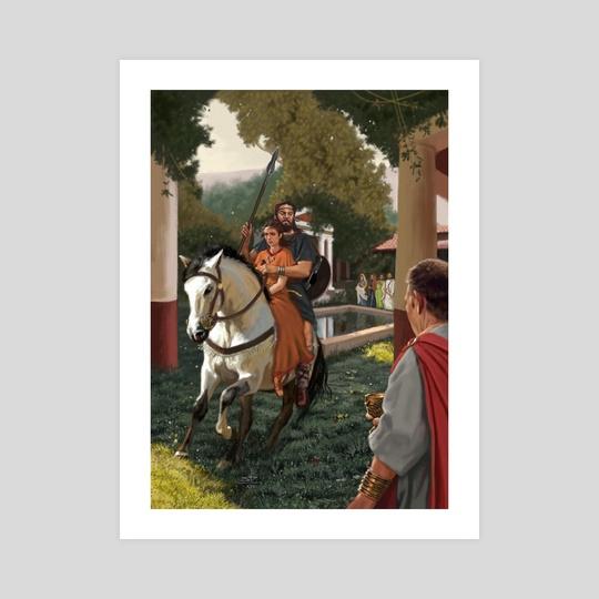 Viriathus Escaping with Vanidia of their Wedding by Sandra Delgado