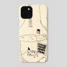 bottle inktober 2018 - Phone Case by Sandra Gunniga Thomson