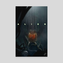Alien  - Canvas by Brett Marchant