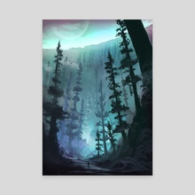 Base of the Great Glacier - Canvas by Jordan Grimmer
