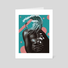 Drowning in your memory - Art Card by Prashanth C