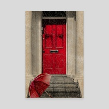 London Door - Canvas by Valérie KARAKATSANIS