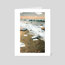 Sleep at work - Art Card by Alexander Zienko