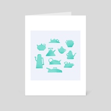 Teapots curves - Art Card by Paykhan Paykhan