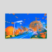 Sunday Trip - Canvas by Julian Faylona