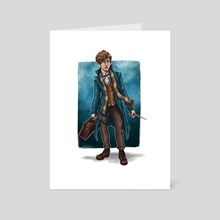 Newt Scamander - Art Card by Georgia Collins