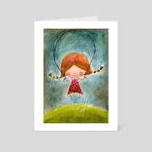 girl - Art Card by Camila Espinosa