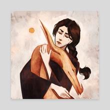 Golden dragon - Canvas by Marina Evlanova