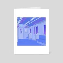 Japanese Subway - Art Card by Resendmxxn