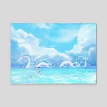 Haku x Chihiro  - Acrylic by Ri Otori