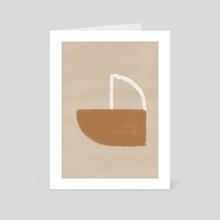 Minimal shapes - Art Card by Lola Terracota