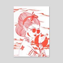 Feelin' Lucky - Acrylic by Miki Nozomi