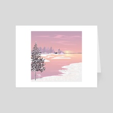 A purple sun - Art Card by Aurealis Creatief