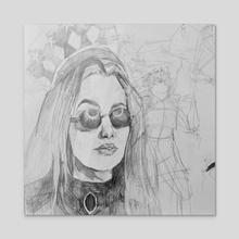 Skeptical - Acrylic by Emily Nikolaisen
