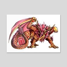 Ruby Dragon - Acrylic by Delyth Thomas