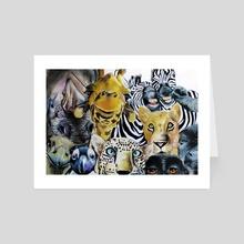 Animal Selfie - Art Card by Tayla Köhler