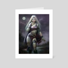 Moon Witch - Art Card by Paul Abrams