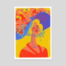 Fancy Lady - Canvas by Suzi Spooner