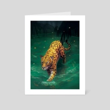 Jaguar Walking - Art Card by Carissa Genovese